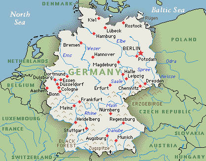 Map Of Germany Showing Cologne